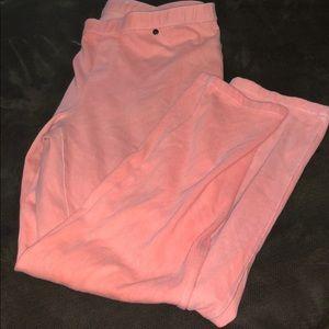 HUE Women's Pink Skinny Pants Size Large